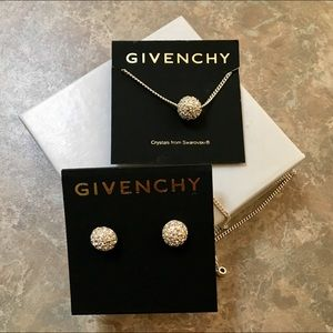 Givenchy Silver-Tone Earrings & Necklace Set